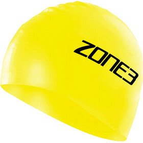 Zone3 Silicone Swim Cap, hi-vis yellow